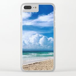 Early Morning Tulum Clear iPhone Case