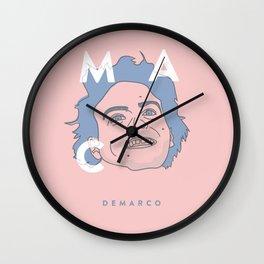 Pink and Blue Mac Wall Clock