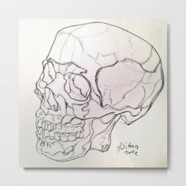Skull drawing Metal Print