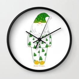 Santa in PJs 2 Wall Clock