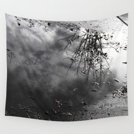 Cloudy Day Reflection Wall Tapestry