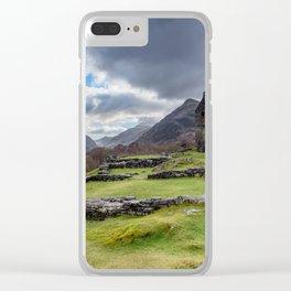 Dolbadarn Castle Snowdonia Clear iPhone Case