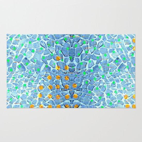 Street Floor Tiles Feeling Turquoise Tiger-Polka Dot...ish