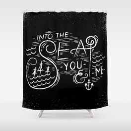 Into-The-Sea Shower Curtain
