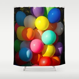 Colorful Toy Balloons Shower Curtain