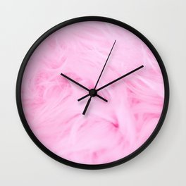 Pink Pink Soft Touch Wall Clock