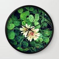 clover Wall Clocks featuring Clover by ADH Graphic Design