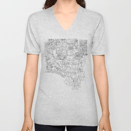 New York in one line Unisex V-Neck