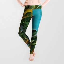 Small fruit tree in outer space Leggings