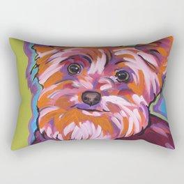 Maggie the Yorkie Rectangular Pillow