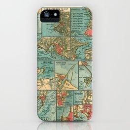 See Atlas 1906 - German Sea Atlas - Mediterranean and Indian Ocean Seaports; Venice, Messina, Bombay iPhone Case