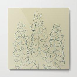 Bold Blooms No 10 (square) Metal Print