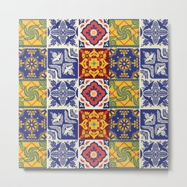 talavera mexican tile/multicolours/ Metal Print