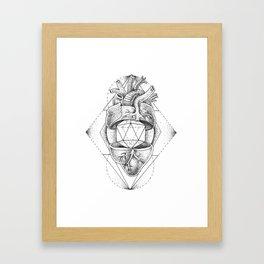 Heart on the line Framed Art Print
