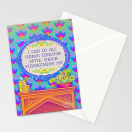 I Can Do All Things Through Spite Stationery Cards