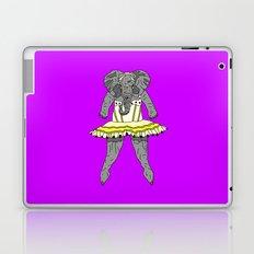 Elephant Ballerina - Yellow Purple Laptop & iPad Skin