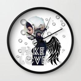 FAKE LOVE (Tear) Wall Clock
