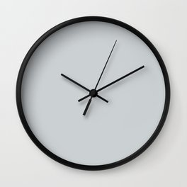 Pale Pastel Blue Gray Solid Color Pairs To Sherwin Williams North Star SW 6246 Wall Clock