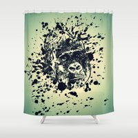 monkey Shower Curtains featuring Monkey by WonderfulDreamPicture