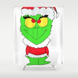 Christmas grump Shower Curtain