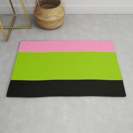 Just three colors 2 pink,green,black Rug