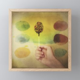 Once Upon a Time a Colorful Candy Framed Mini Art Print