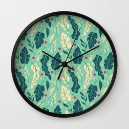 Vintage Floral Pattern 005 Wall Clock