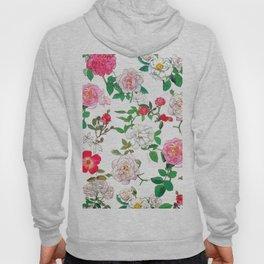 Pattern of vintage rose Hoody
