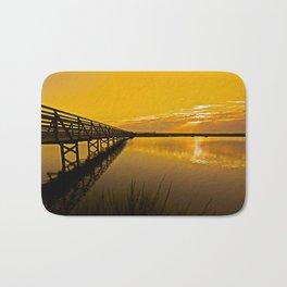 Bolsa Chica Wetlands Sunrise  8/26/13 Bath Mat