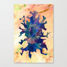 Space Triangles Canvas Print