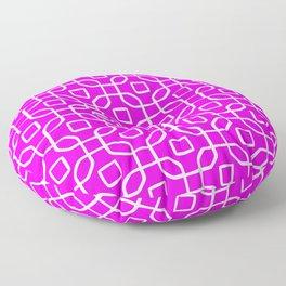 Grille No. 4 -- Violet Floor Pillow