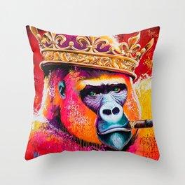 KING--GORILLA Throw Pillow