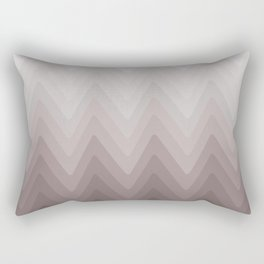 Zigzag.White, beige, gray, brown Ombre. Rectangular Pillow