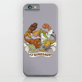 I Heart Dinosaurs iPhone Case
