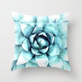 Succulent - A Watercolour Mandala Throw Pillow