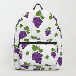 Grape pattern on a white background Backpack