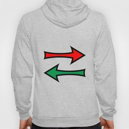 Left And Right Direction Arrows Hoody