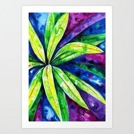 Croton - Tropical Leaves Art Print