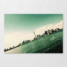 Tilted Toronto Canvas Print
