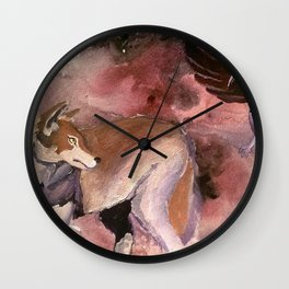Wolf and Crow Wall Clock
