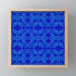 Indigo Batik Framed Mini Art Print