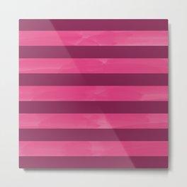 Red & Pink Stripes Digital Design Metal Print