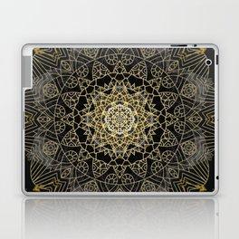 Bohemian Gold Brushed Mandala design Laptop & iPad Skin