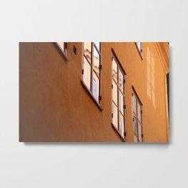 Stockholm Windows Metal Print