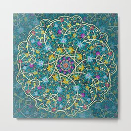 Turquoise swirl Metal Print