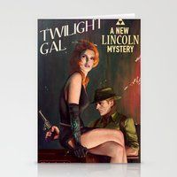 twilight Stationery Cards featuring Twilight Gal by Astor Alexander