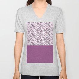 Triangles Purple Unisex V-Neck