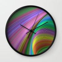 matty healy Wall Clocks featuring Rainbow dream by David Zydd