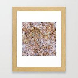 Abstract orange granite pattern Framed Art Print