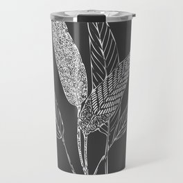 Black and White Botanical Drawing Travel Mug